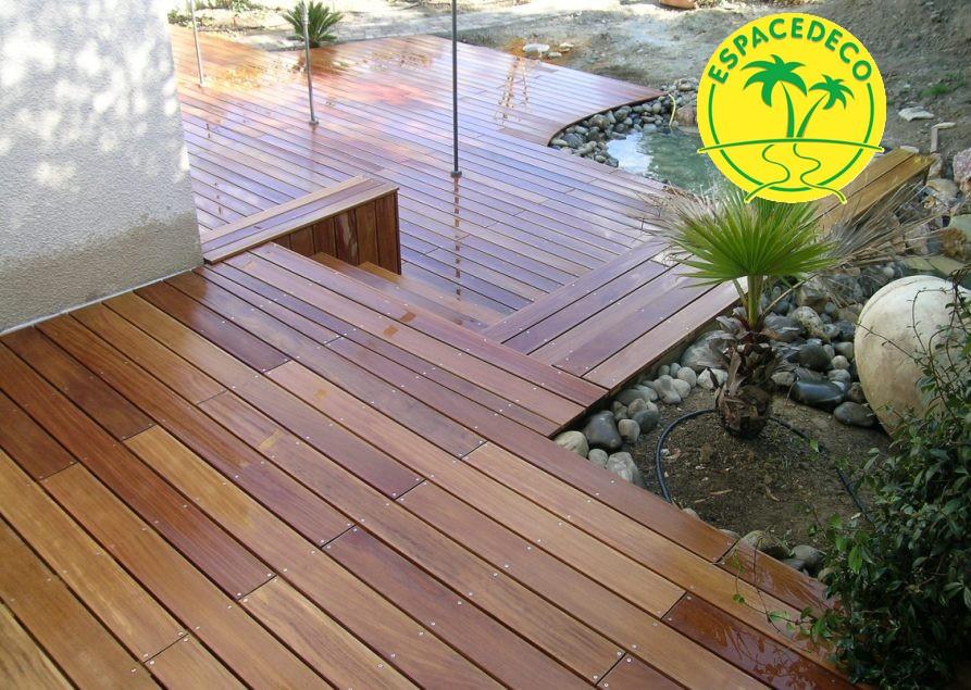 Plancher avec marche en bois exotique Blagnac