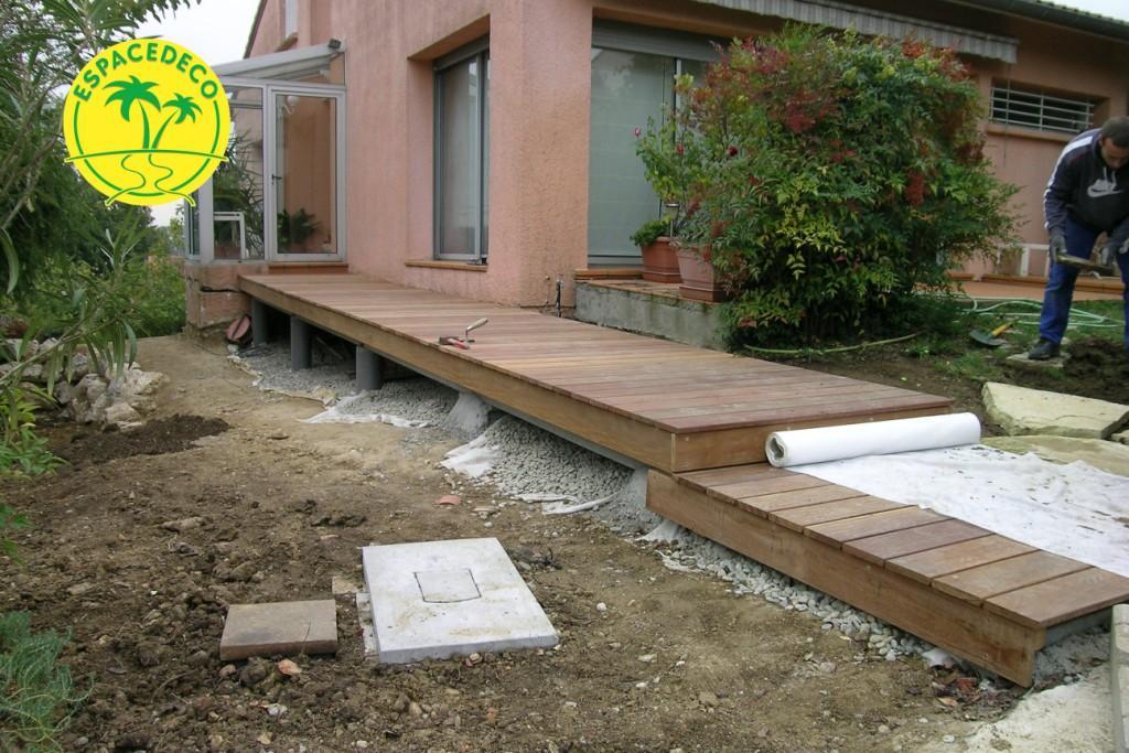 bois Cumaru  Espacedéco vous offre le choix, de faire différente forme l'artisan aménagement extérieur à Toulouse ,Saint orens, Labège Haute Garonne