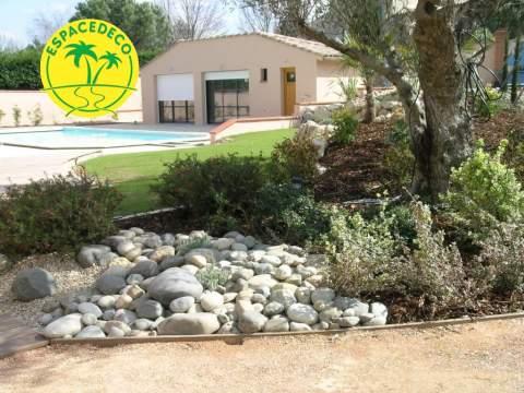 Création d'un jardin à Pin Balma avec un travail professionnel