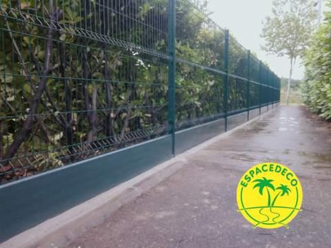 clôture soubassement béton