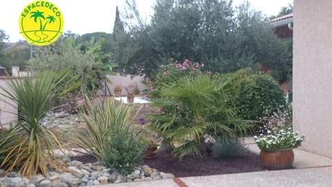 Aménagement d'un jardin complet ambiance méditerranéenne à Toulouse