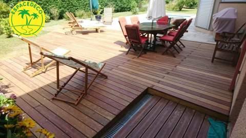 Terrasse bois Espacedeco à Leguevin