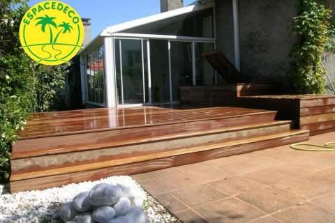 Espacedéco réalise vos terrasses en bois en pins ou exotique en Haute-Garonne.