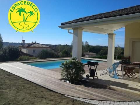 Faites appel vous aussi à l'expertise et le savoir faire de nos décorateurs/paysagistes pour la création d'un tour de piscine en région toulousaine.