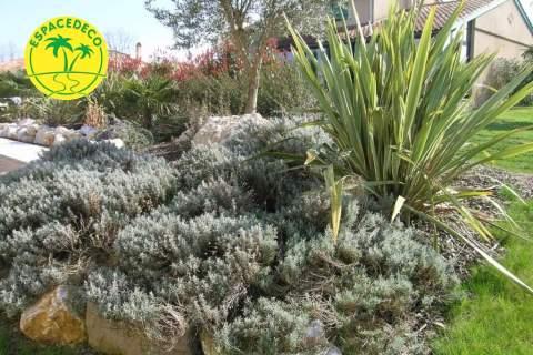 plantations avec rocaille à Cugnaux, Portet sur Garonne,