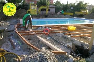 2-Aménagement de vos extérieurs, de vos espaces verts, de vos tours de piscine, et réalisation de terrasses en bois ainsi que des coffres, banc par Espacedéco à Colomiers.