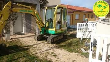 Évolution de chantiers d'aménagement extérieur