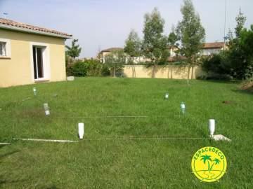 1-Pose de rouleaux de gazon par les soins de nos paysagistes en Haute-Garonne.