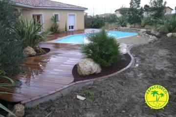 7-Pose de tour de piscine par Espacedéco en Haute-Garonne, à Toulouse, Portet,  Cugnaux, Tournefeuille, Balma, Pibrac, Colomiers.